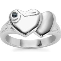 0.05ct Kanchanaburi Sapphire Sterling Silver Couture Ring
