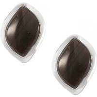 10.5cts Cappuccino Flint Sterling Silver Earrings