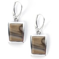 12.25cts Cappuccino Flint Sterling Silver Earrings