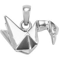0.03ct Singida Tanzanian Zircon Sterling Silver Origami Swan Pendant