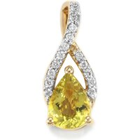 Cuprian Tourmaline Pendant With Diamond In 18k Gold 0.93cts