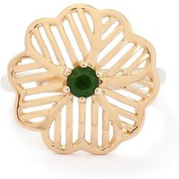 0.31ct Chrome Diopside Two Tone Midas Ring