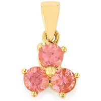 1.25ct Pink Spinel 9k Gold Pendant