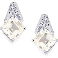White Topaz Earrings In Sterling Silver 1.85cts