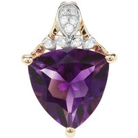 Moroccan Amethyst Pendant With Diamond In 9k Gold 2.18cts