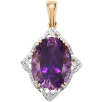 Moroccan Amethyst Pendant With Diamond In 18k Gold 8.57cts