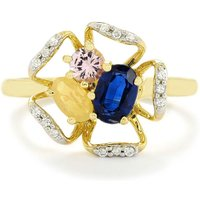 1.09ct Harlequin 9k Gold Ring