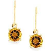 1.50ct Amarelo Beryl 9k Gold Earrings