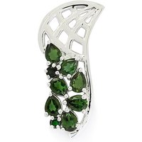 1.07ct Chrome Tourmaline Sterling Silver Pendant