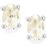 0.82ct Goshenite Sterling Silver Earrings