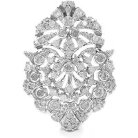 Diamond Brooch In Sterling Silver 0.77cts