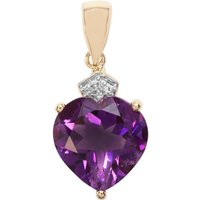 Moroccan Amethyst Pendant With Diamond In 9k Gold 3.81cts