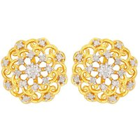 1/4ct Diamond Earrings In Gold Plated Sterling Silver