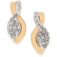 1/4ct Diamond 9k Two Tone Gold Earrings