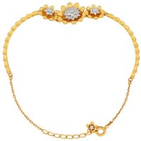 1/2ct Diamond Bracelet In Gold Plated Sterling Silver