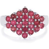 Natural Pink Tourmaline Ring In Sterling Silver 1.43cts