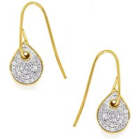 1/5ct Diamond Gold Plated Sterling Silver Earrings