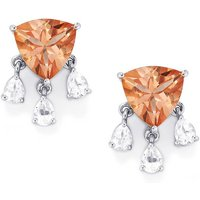 Galileia Topaz Earrings With White Topaz In Sterling Silver 6.73cts