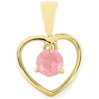 0.55ct Pink Spinel 9k Gold Pendant