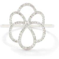 0.15ct Diamond 9k White Gold Ring
