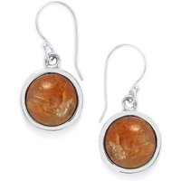 12.50ct Shinyanga Sunstone Sterling Silver Aryonna Earrings