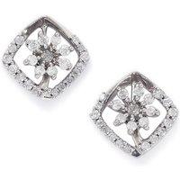 1/2ct Diamond 9k White Gold Earrings