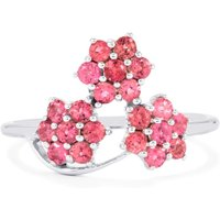 Natural Pink Tourmaline Ring In Sterling Silver 0.69ct