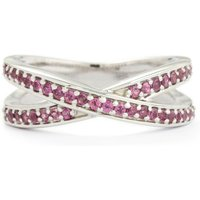 0.52ct Rhodolite Garnet Sterling Silver Ring