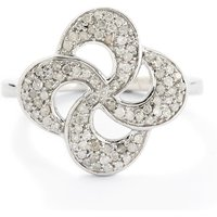 0.33ct Diamond Sterling Silver Ring