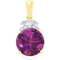 Moroccan Amethyst Pendant With Zircon In 9k Gold 3.87cts
