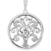 Diamond Tree Of Life Pendant In Sterling Silver 0.51ct