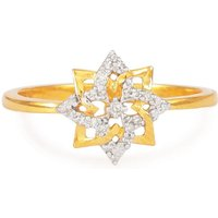 1/20ct Diamond Ring In Gold Plated Sterling Silver