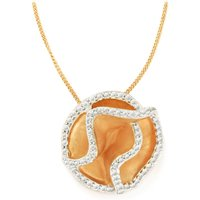 1.01ct White Topaz Rose Midas Pendant Necklace