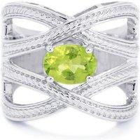 1.24ct Changbai Peridot Sterling Silver Ring