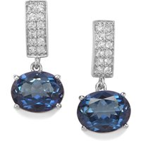 Hope Topaz Earrings With White Topaz In Sterling Silver 4.94cts