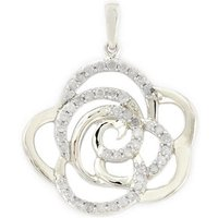 1/3ct Diamond 9k White Gold Pendant