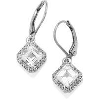 White Topaz Earrings In Sterling Silver 2.92cts