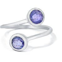 1.10ct Tanzanite Sterling Silver Ring