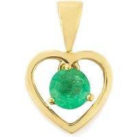 0.42ct Zambian Emerald 9k Gold Pendant