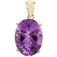 Moroccan Amethyst Pendant In 9k Gold 7.35cts
