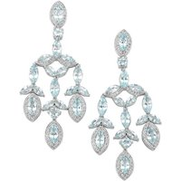Sky Blue Topaz Earrings With White Topaz In Sterling Silver 18.09cts