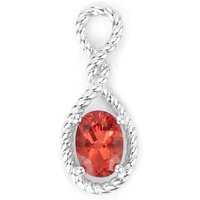 0.77ct Mongolia Red Andesine Sterling Silver Pendant (d)