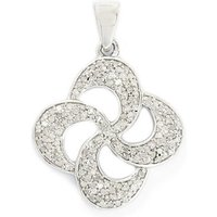 0.50ct Diamond Sterling Silver Pendant