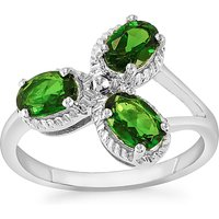 1.43ct Chrome Diopside Sterling Silver Ring