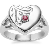 0.05ct Tocantin Garnet Sterling Silver Couture Ring
