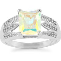 Mercury Mystic Topaz Ring With White Topaz In Sterling Silver 2.91cts