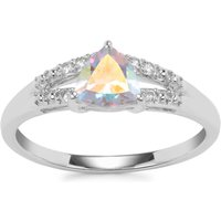 Mercury Mystic Topaz Ring With White Topaz In Sterling Silver 0.92ct