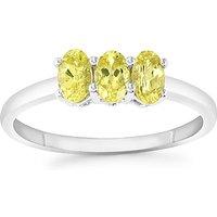 0.81ct Brazilian Chrysoberyl 9k White Gold Ring