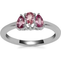 Sakaraha Pink Sapphire Ring In Sterling Silver 0.77ct