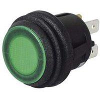 Durite - Switch Push/Push Green LED 12/24 volt Cd1 - 0-690-54